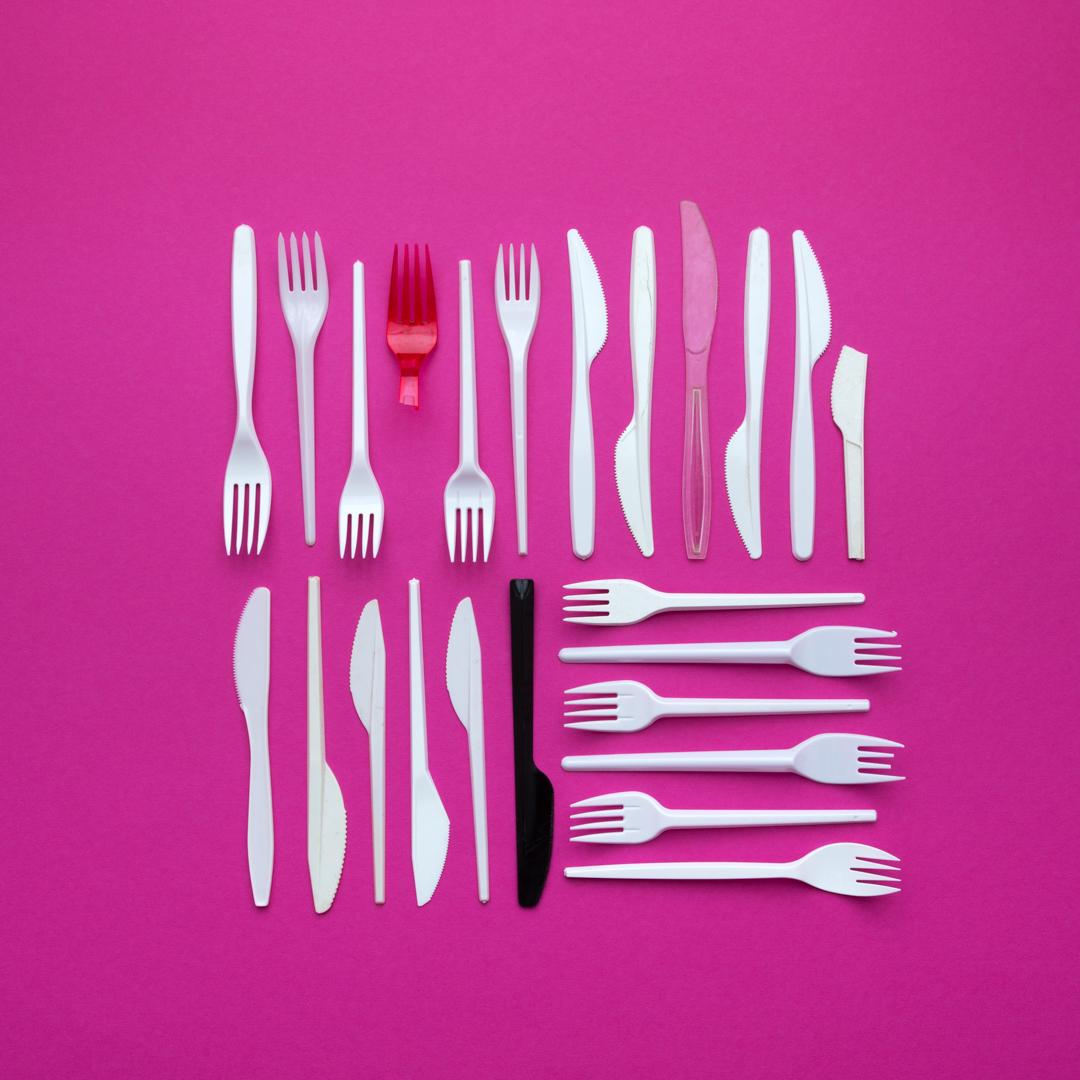 Plastikbesteck Fotokunst