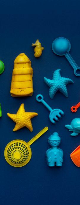 Sandspielzeug Plastikmüll Fotokunst
